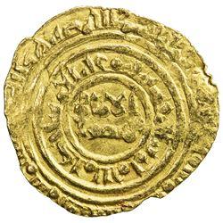 FATIMID: al-Amir al-Mansur, 1101-1130, AV 1/4 dinar (1.03g), al-Mu'izziya al-Qahira, DM. VF