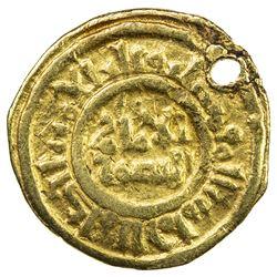 FATIMID: al-Amir al-Mansur, 1101-1130, AV 1/4 dinar (0.78g), NM, ND. VF