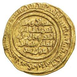 FATIMID: al-Zafir, 1149-1154, AV dinar (4.67g), al-Iskandariya, AH548. F-VF