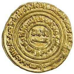 FATIMID: al-Fa'iz, 1154-1160, AV dinar (4.32g), Misr, AH549. VF