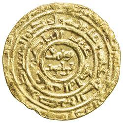 AYYUBID: al-Nasir Yusuf I (Saladin), 1169-1193, AV dinar (3.77g), al-Qahira, AH57x. VF