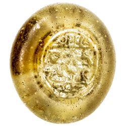 AYYUBID: Anonymous, 13th century, glass weight or jeton (6.09g). VF-EF