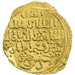 BAHRI MAMLUK: Baybars I, 1260-1277, AV dinar (3.80g), al-Iskandariya, AH(6)70. UNC