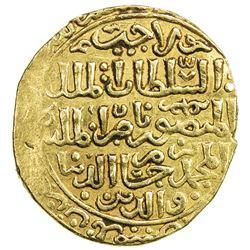 BAHRI MAMLUK: Lajin, 1296-1299, AV dinar (5.53g), Dimashq, AH69x. EF
