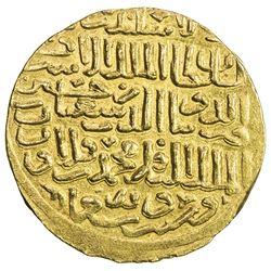 BAHRI MAMLUK: Sha'ban II, 1363-1376, AV dinar (7.32g), al-Iskandariya, AH76(5). EF-AU