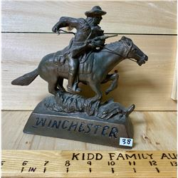 BRONZE WINCHESTER PONY EXPRESS STATUE
