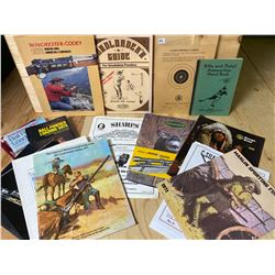 LOT OF VINTAGE FIREARMS / AMMO / RELOADING MANUALS & CATALOGS