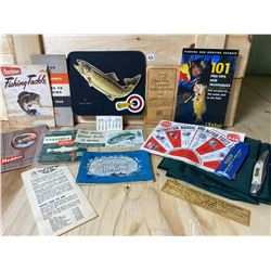COLLECTIBLE LOT OF VINTAGE FISHING ITEMS