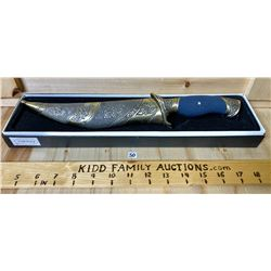 OSCAR CEREMONIAL KNIFE W/ SCABARD & ORIG BOX