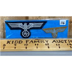 ARMY PANZER BREAST EAGLE & TOPICAL CAP EAGLE - COPIES