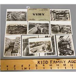 VIMY RIDGE PHOTO CARDS - ORIGINALS