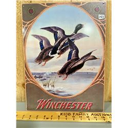 """WINCHESTER TIN SIGN - 12"""" X 16"""""""