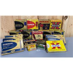 JOB LOT OF EMPTY COLLECTIBLE AMMO BOXES