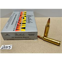 20 X WEATHERBY .224 MAG 55 GR