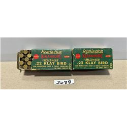 100 X REMINGTON .22 KLAY BIRD
