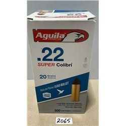 500 X AGUILA HIGH SPEED .22 LR 20 GR 590 FPS