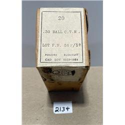 AMMO: 30 BALL COFN BOX