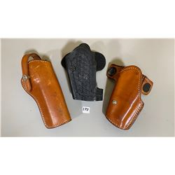 LOT OF 3 HOLSTERS - INCLUDES GLOCK 17