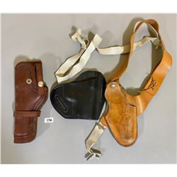 LOT OF 3 LEATHER HOLSTERS