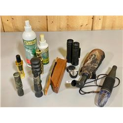 JOB LOT OF WILDLIFE CALLS & ACCESSORIES