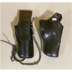 LOT OF 2 LEATHER HOLSTERS - INCLUDES BIANCHI 350 HURRICANE HOLSTER