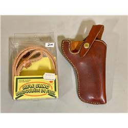 LEATHER HOLSTER & NEW SLING