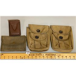 2 X US BAR USE AMMO POUCHES, LEATHER POUCH, WALLET HOLDER