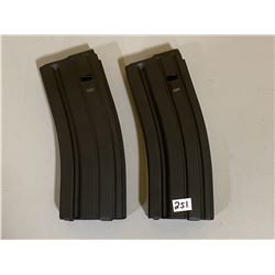 LOT OF 2 M4 METAL MAGS - GI STYLE 5/30 BLACK