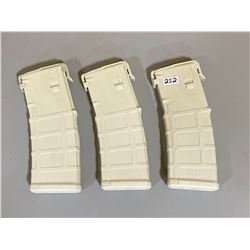 LOT OF 3 M4/M16 P MAGS - G3 5/30 TAN