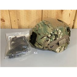 MSA MICH TECH KEVLAR HELMET (L) - MULTICAM COVER/ PADDING / HARNESS