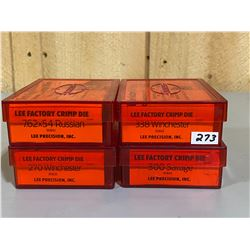 LOT OF 4 CRIMP DIES - 7.62 X 54 RUS, 270 WIN, .338 WIN, .300 SAV
