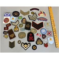 QTY CND CLOTH BADGES - SOME PRE WWII