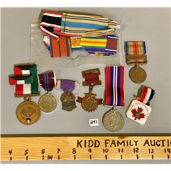 LOT OF 7 MISC MEDAL & RIBBONS