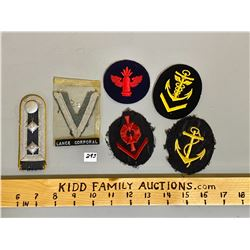 LOT OF 6  BADGES / INSIGNIA - ORIGINAL