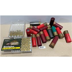 AMMO: 16 MIXED 12 GA AND 96 .22LR