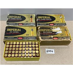AMMO: 100 X .22 LONG AND 100 X .22LR