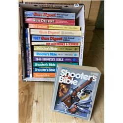 QTY OF BOOKS - GUN DIGEST & SHOOTER'S BIBLE