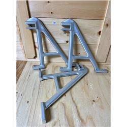 LOT OF 3 MEAT HANGING BRACKETS