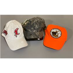 LOT OF 3 HUNTING / FISHING CAPS - AS NEW
