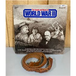 2 RECORD SET - WORLD WAR II & LEATHER SLING