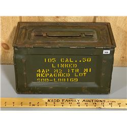 .50 CAL MILITARY ISSUE METAL AMMO BOX
