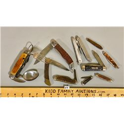 MISC LOT OF POCKET KNIVES