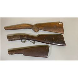 LOT OF 3 UNKNOWN RIFLE STOCKS