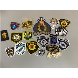 QTY OF POLICE & FIRE BADGES / PINS