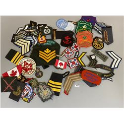 LARGE QTY OF CND CLOTH BADGES - WWII TO PRESENT