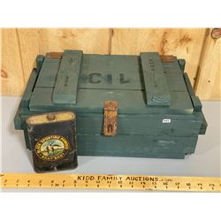 CIL AMMO CRATE & BLACK SPORTING POWDER COLLECTIBLE TIN