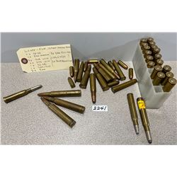 MIXED AMMO AND BRASS, SEE LIST