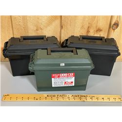LOT OF 3 AMMO CANS