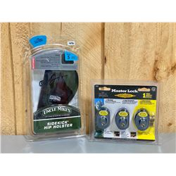 UNCLE MIKE'S SZ 5 HIP HOLSTER & TRIGGER LOCKS - NEW