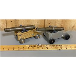 LOT OF 2 BLACK POWDER CANNONS